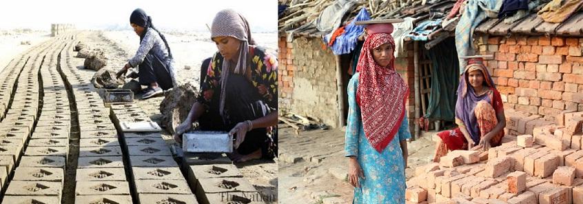 یوم مئی محنت کش پاکستانی خواتین گرمی اور موسم کی شدت سے بے نیاز اپنی مزدوری میں لگی ہوئی ہیں