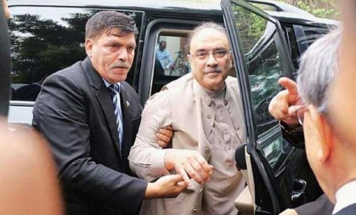 پاکستان پیپلز پارٹی کے شریک چیئرمین آصف علی زرداری قومی احتساب بیورو کی حراست میں