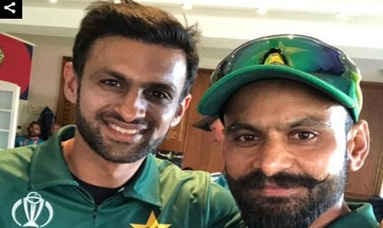 پاکستان کرکٹ ٹیم کے دو سابق کپتان اورآزمودہ آل رائونڈرز شعیب ملک اور محمد حفیظ