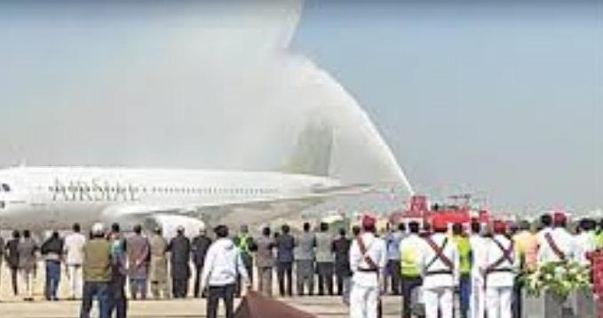 نئی فضائی کمپنی ایئرسیال کا طیارہ اتوار 29 نومبر کو کراچی ائیرپورٹ پر لینڈ کرگیا